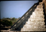 Mexico - Chichen Itza - Sun serpent on the Pyramid of Kukulcan