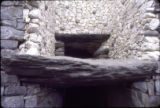 "British Isles - Ireland - Newgrange, entrance of Newgrange with the ""roof box"" overhead"