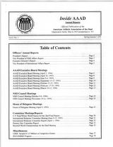 Inside AAAD Annual Reports 1996