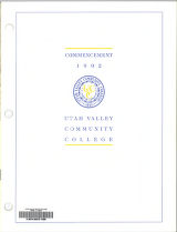 Utah Valley Community College Commencement Program, 1992