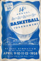 1958 American Athletic Association of the Deaf National Basketball Tournament Souvenir Program