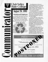 Utah Valley Community College Communicator 1993-08-20